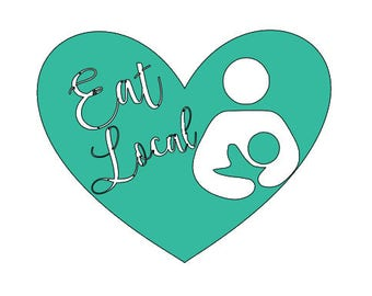 Crunchy Mom Decal - Eat Local Decal - Breastfeeding Decal - Normalize Breastfeeding - Eat Local - Crunchy Mom - Car Decal - Window Decal