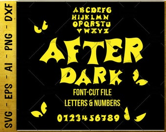 Font Alphabet SVG Letters Numbers SVG Scary Halloween svg cut cutting files Cricut Silhouette Instant Download vector svg png eps dxf