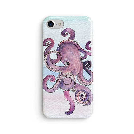 Octopus watercolor - iPhone 7 case, samsung s7 case, iphone 7 plus case, iphone se case 1P062