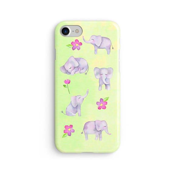 Elephants everywhere watercolor  iPhone X case - iPhone 8 case - Samsung Galaxy S8 case - iPhone 7 case - Tough case 1P064