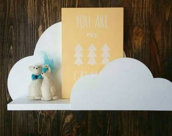 Cloud Shelf for Kids Room Baby Nursery Wall Decor Hanging Cloud Shelves - Decorations for Bedroom Wall Artwork