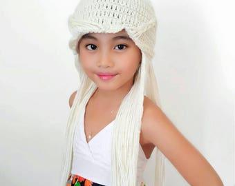 Daenerys Targaryen wig hat, Game of Thrones wig costume, daenerys mother of dragon hat, daenerys costume, daenerys wig, princess crochet hat