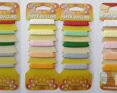 QUILLING PAPERS FRINGED by Siesta - 3-pack 100cm long by 0.6cm, 1.0cm & 1.3cm wide