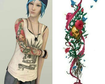 Custom cosplay tattoo Chloe Price Life is Strange