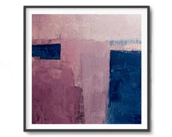 Pink Abstract Art, pink Print ,Abstract  Print, navy blue and pink,Minimalist Print, Home Decor, Digital Downloads, modern decor, light pink