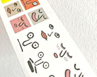 Funny Faces - Temporary Tattoos // Cool // Cute // Hipster // Summer // Party