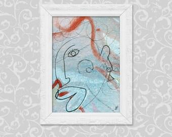 Modern art (DIN A6) abstract image