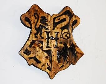 Wooden Hogwarts Crest