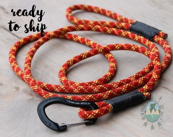 READY to SHIP! 8FT Sunrise Leash || Rock Climbing Rope Dog Leash || Handmade in the USA