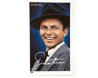1 x Frank Sinatra UNused 42 cent US Postage Stamp - Hollywood - Ol Blue Eyes - for mail, postage, card making, crafts and swooning over