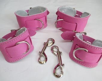 Princess/Prince Locking Restraint Cuffs Set (Wrist and Ankles)