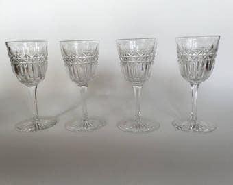 Vintage Set Of Four Sherry Glasses