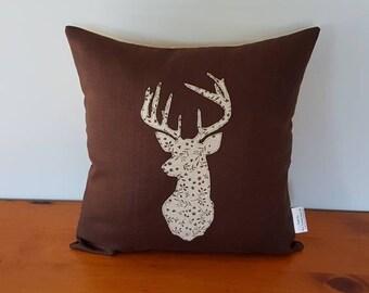 Deer head pillow Etsy