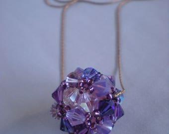 Swarovski ball necklace
