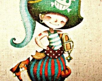 Small cotton-linen fabric transfer pirate