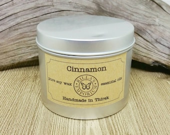 Cinnamon - Wooden Wick Travel Candle