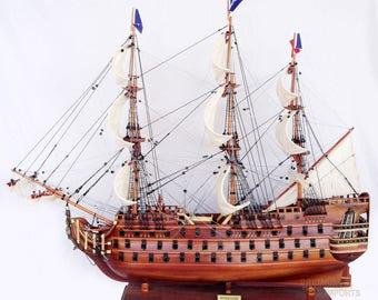 "37"" Royal Louis Display Wooden Ship Model"