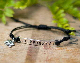 Handmade Vegan Bracelet - Hippiness - Hemp Bracelet - Vegan Jewelry - Animal Rights - Awareness - Organic - Veganism - Organic Hemp -