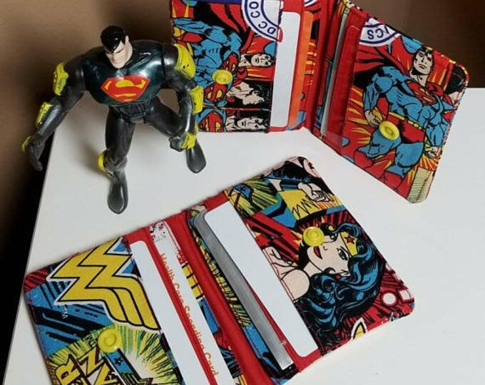 Snap DC comics fabric wallet