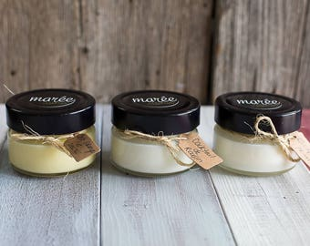 Find trio - soy candles - Peel prayerful and pineapple - grape Cocktail - fruity getaway