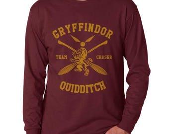 Gryffin Quidditch Team Chaser on Longsleeve MEN tee