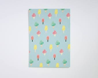 Postcard Ice cream - ice cream pattern - eco-friendly - postcard illustration
