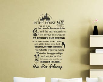 Disney Wall Decor disney wall decal | etsy