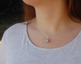 Ocean Fossil Jasper Genuine Gemstone Pendant Necklace