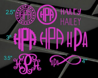 Back to School - SALE Monogram package - monogram sheet - Name sticker sheet - decal package - name decals - monogram set - mono