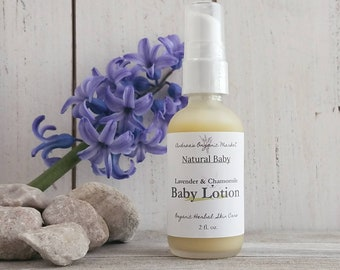 Organic Baby Lotion with Lavender and Chamomile, Calming Cream, Organic Baby Care, Natural Baby Cream, Vegan Lotion for Babies, Eco Friendly