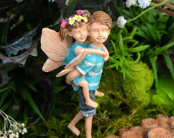 Miniature Big Brother Fairy and Little Sister Fairy