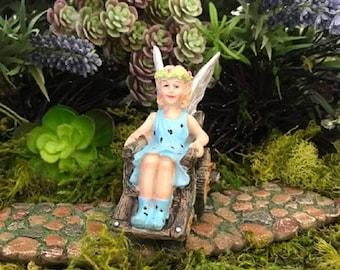 Miniature Fairy Klara in a Wheelchair