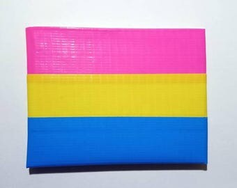 Pan Pride Flag Duct Tape Wallet