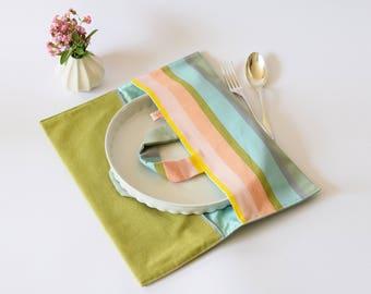 Pie bag , picnic bag , dish carrier , pie bag carrier , reusable bag , pie carrier , kitchen bag , dish carrier , colorful pie bag