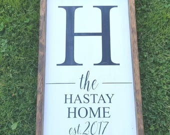 Family Sign, New Home Signs, Realtor Gift, Wedding Gift, Distressed, Hand Painted Wood Sign