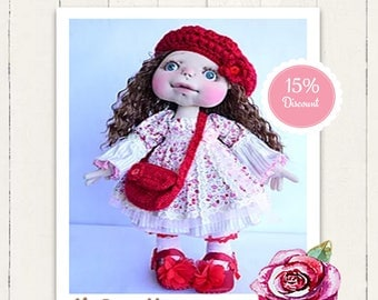 Textile wrist Hanna. Sculptural art doll. Waldorf inspired doll. Collectable. Dolls. Artdolls. OOAK doll. Handmade.
