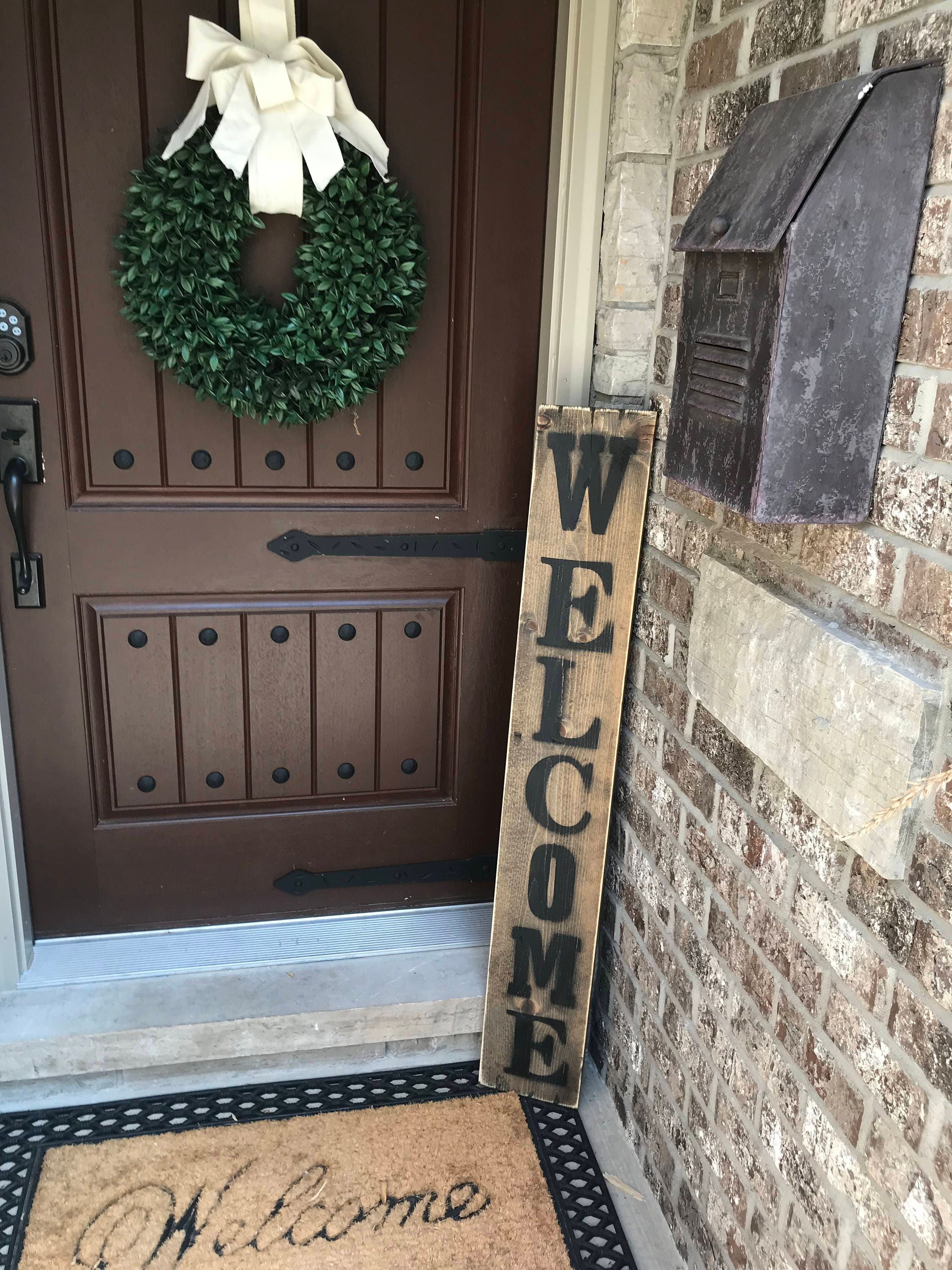 Large welcome signs, Rustic wood welcome signs, Welcome ...