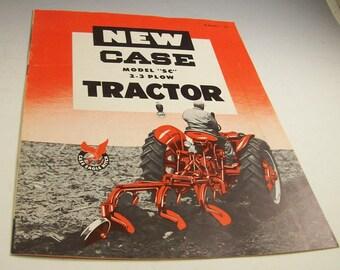 CASE Series SC Farm Tractor Orig. Sales BROCHURE