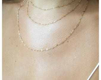 Romee Layered Choker Necklace,Layered Choker,three layers 14k gold filled choker,multi strand necklace,trio choker,special occasion