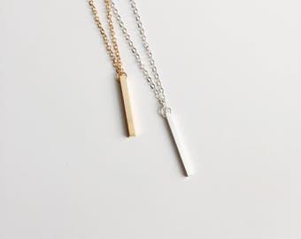 Necklace with bar pendant