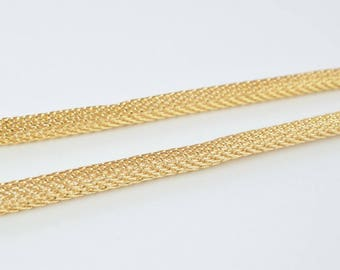 "18K Gold Filled Chain 16"" Inch Mesh Chain CG88"