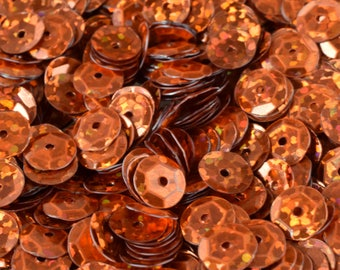 3/4/6mm Orange Copper Cup Glossy Sequins Sheen Round Sequins/Loose Paillettes,Wholesale Sequins,Shimmering Sequin Apparel