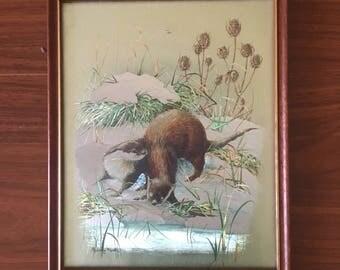 1970s Kitch Otter Art