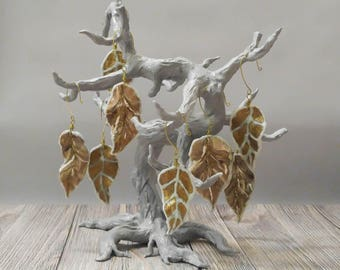 Frosty Winter Leaves Ornaments, Set of 8