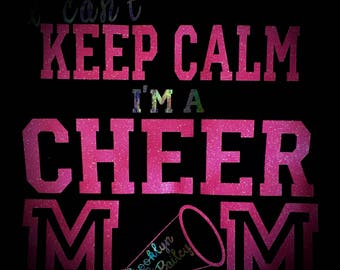 Personalized Can't Keep Clam Cheer MOM T-shirt or Tank~Your COLORS Cheer Shirt