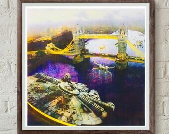 Screen print - Star Wars v London - Incident at Tower Bridge