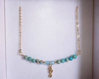 Little seahorse goldfilled necklace