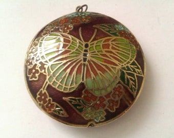 2 enamelled pendants