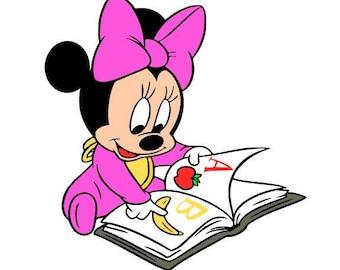 Baby Minnie Svg File, Disney Svg File, Minnie Mouse Svg, Svg Cutting File, Svg Cut File, Svg For Silhouette, Svg For Circut, Disney Clipart,