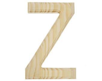 "6"" Blank Unfinished Wooden Letter Z"